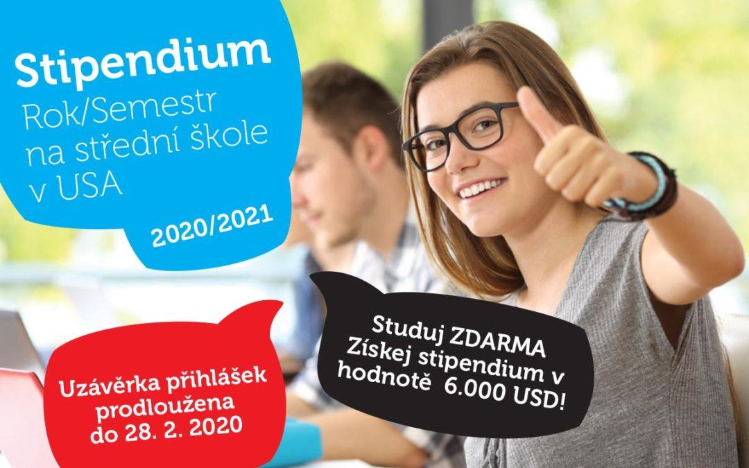 Stipendium – Rok/Semestr na střední škole v USA 2020/2021